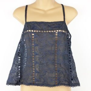House of Harlow 1960 x Revolve Charcoal Top l